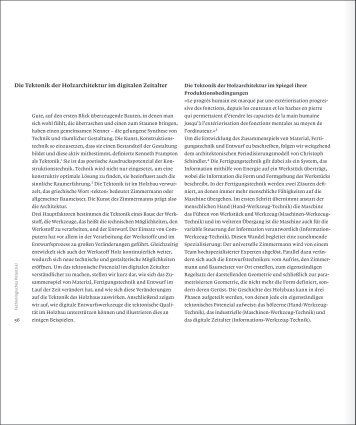 Die Tektonik der Holzarchitektur im digitalen Zeitalter - Infoscience ...