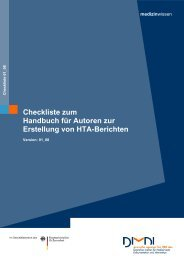 Checkliste zum Handbuch für Autoren zur Erstellung von ... - DIMDI