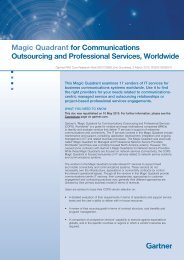 Magic Quadrant for Communications Outsourcing ... - Dimension Data