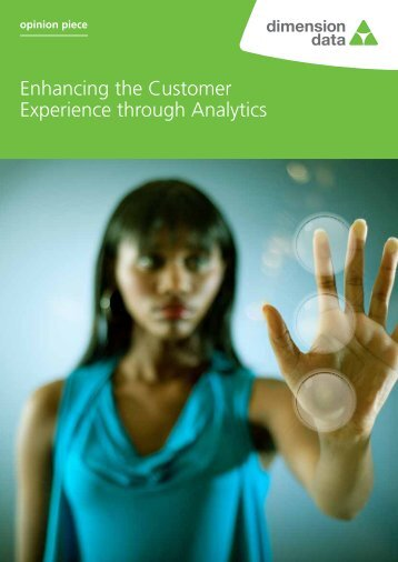 and integrate MIS capabilities from the start. - Dimension Data