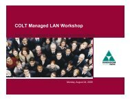 Dimension Data/Colt Managed LAN Training