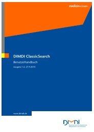 Benutzerhandbuch zur DIMDI ClassicSearch