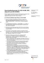 Downloadbedingungen für ICD-10-GM, OPS, Alpha-ID und ... - DIMDI