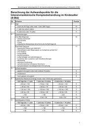 Berechnung der Aufwandspunkte für die ... - DIMDI