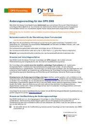OPS-Vorschlag Änderungsvorschlag für den OPS 2008 - DIMDI