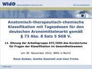 Workflow ATC/DDD 2012 - WIdO