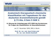 Präsentation der achten Sitzung de rArbeitsgruppe ATC/DDD - DIMDI