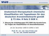 7. Sitzung der Arbeitsgruppe ATC/DDD - WIdO