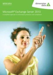 Microsoft® Exchange Server 2010 - Dimension Data