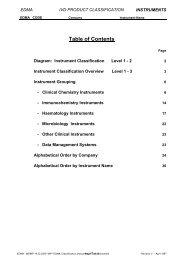Table of Contents - DIMDI
