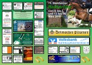 Zeiteinteilung Sonntag, den 14. März 2010 - Reit- und Fahrverein ...