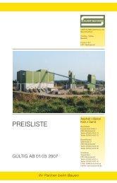 PREISLISTE - XAVER SCHMID GmbH & Co. Bauunternehmen KG