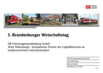 1 Präsentation f Vortrag DB Fahrzeuginstandhaltung GmbH Werk ...