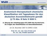 6. Sitzung der Arbeitsgruppe ATC/DDD des Kuratoriums für ... - WIdO