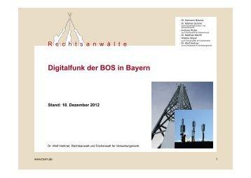 Digitalfunk der BOS in Bayern - Rechtsanwälte Dr. Brezina und ...