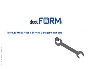 Mercury MPS - docuFORM GmbH