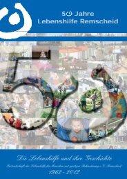 Festschrift zum 50jährigen Jubiläum - Lebenshilfe Remscheid eV