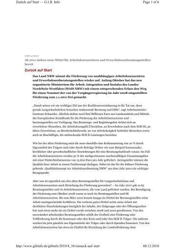 Zurück auf Start Page 1 of 6 Zurück auf Start — G.I.B. Info 08.12 ...