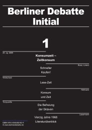 Konsumzeit – Zeitkonsum - Berliner Debatte