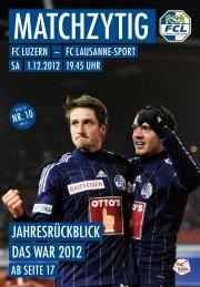 Wir setzen jedem spiel die schaum - FC Luzern