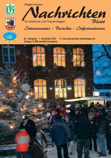 Nachrichtenblatt Dezember 2012 - Werbegemeinschaft Geismar ...