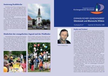 EVANGELISCHER GEMEINDEBRIEF Glückstadt und Blomesche ...