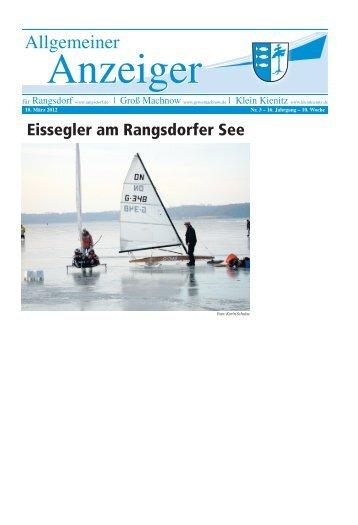 Eissegler am Rangsdorfer See - Rangsdorf - in der Gemeinde ...