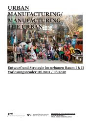 uRban manuFactuRIng/ manuFactuRIng tHE uRban - professur für ...