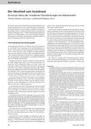 Aufsätze Der Abschied vom Sozialstaat - Neue Justiz