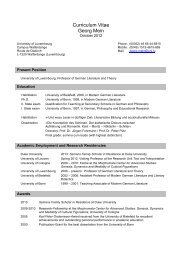 Curriculum Vitae Georg Mein - Luxembourg