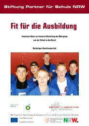 Fit für die Ausbildung - Stiftung Partner für Schule NRW