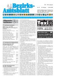 Samstag, 17. Mai 2008 Wo - Bezirksamtsblatt