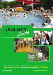 Gemeindezeitung 2/08 - Gemeinde Sulz