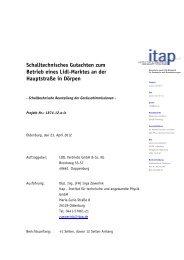 Schalltechnisches Gutachten zum Betrieb eines Lidl-Marktes an der ...