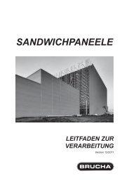 sandwichpaneele leitfaden zur verarbeitung - Brucha