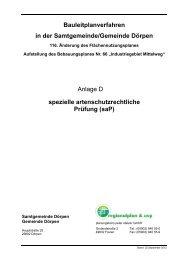 spezielle artenschutzrechtliche Prüfung (saP) - Samtgemeinde Dörpen