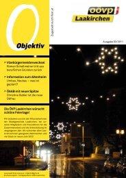 Objektiv Dez. 2011 - ÖVP Laakirchen