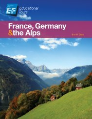 France, Germany &the Alps - EF Tours