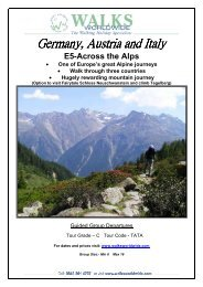 E5-Across the Alps 2010 - Walks Worldwide