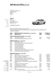 MD-Bavaria Žilina, sro - BMW Žilina