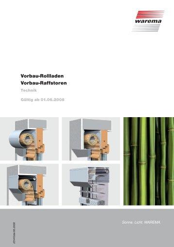 Vorbau-Rollladen Vorbau-Raffstoren