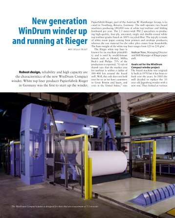 New generation WinDrum winder up and running at Rieger - Metso