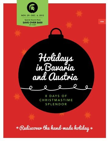Holidays in Bavaria and Austria - MSU Alumni Association