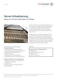 Fact Sheet Servervirtualisierung mit VMWare - direkt gruppe