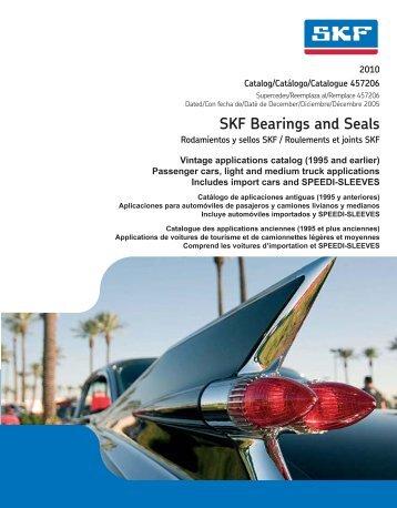 SKF Bearings and Seals - SKF.com