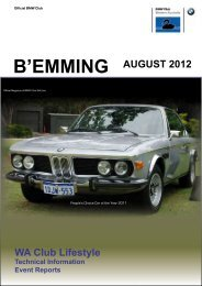 b'emming august 2012 - BMW Club WA