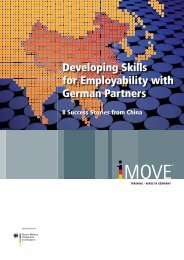 Developing Skills for Employability with German Partners - iMove