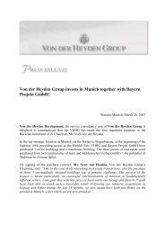 Von der Heyden Group invests in Munich together with Bayern ...