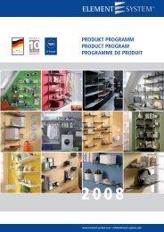 produkt programm product program programme de produit - Schadebo