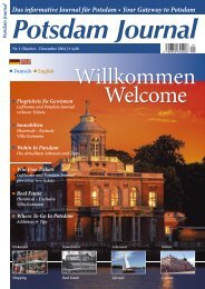 Das informative Journal für Potsdam • Your Gateway to Potsdam